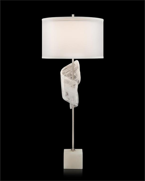 "41"" John Richard Furls of White Buffet Lamp - 1"