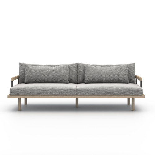 Four Hands Solano Nelson Outdoor Sofa - Brown/Faye Ash - 1