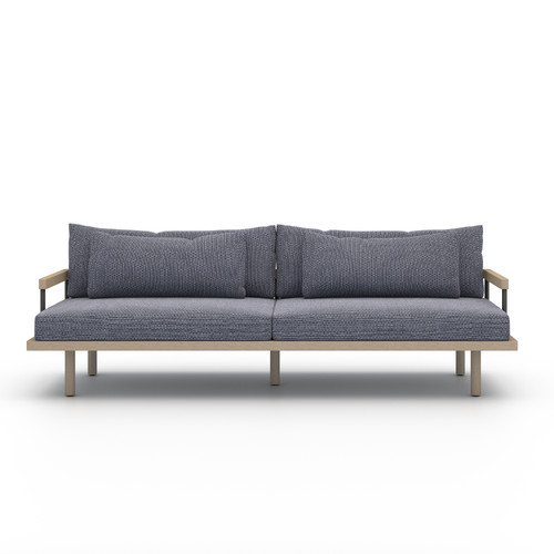 Four Hands Solano Nelson Outdoor Sofa - Brown/Faye Navy - 1
