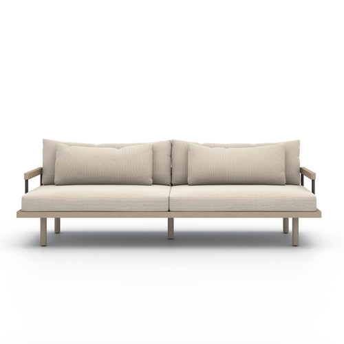 Four Hands Solano Nelson Outdoor Sofa - Brown/Faye Sand - 1