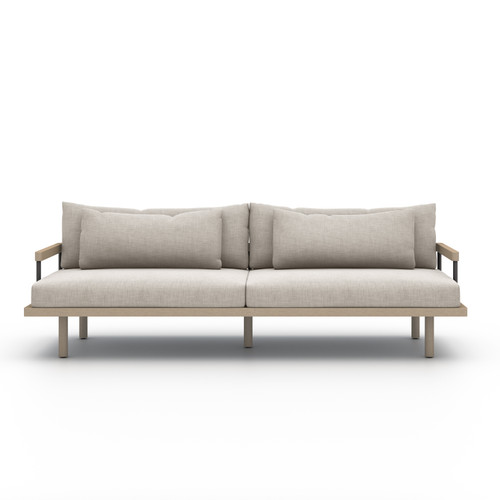 Four Hands Solano Nelson Outdoor Sofa - Brown/Stone Grey - 1