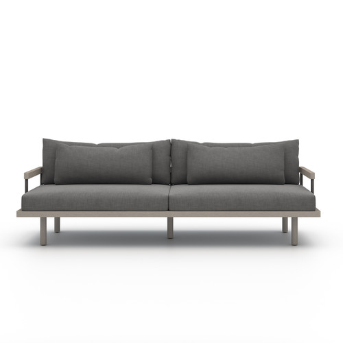 Four Hands Solano Nelson Outdoor Sofa - Grey/Charcoal - 1