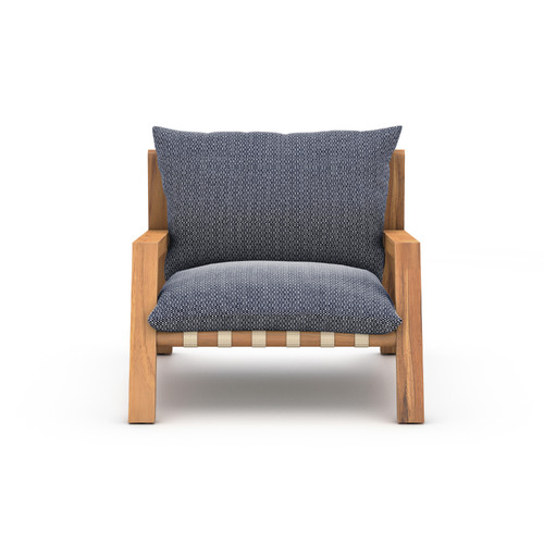 "30"" Four Hands Solano Soren Outdoor Chair - Faye Navy - 1"