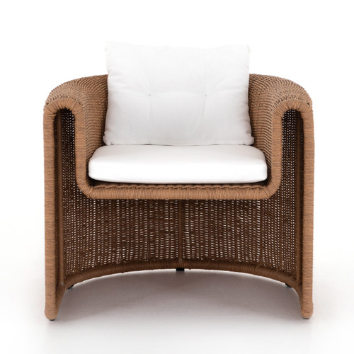 "32"" Four Hands Grass Roots Tucson Woven Outdoor Chair - Natural - 1"