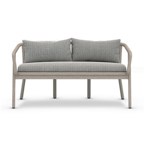 "28"" Four Hands Solano Tate Outdoor Bench - Faye Ash/Grey - 1"