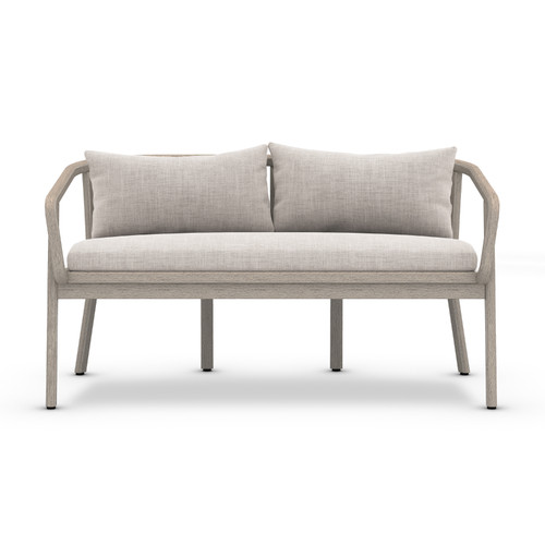"28"" Four Hands Solano Tate Outdoor Bench - Stone Grey/Grey - 1"