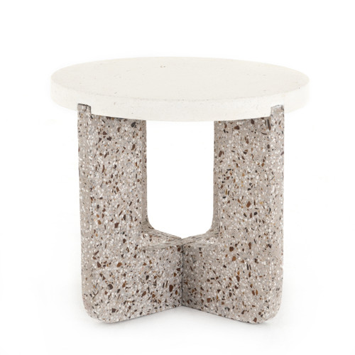 """20"""" Four Hands Lolita Outdoor End Table - Amber and Grey - 1"""