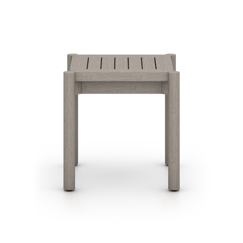 "20"" Four Hands Solano Nelson Outdoor End Table - Grey - 1"