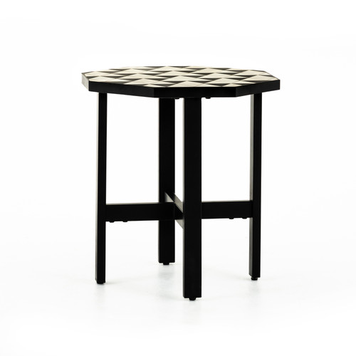 "24"" Four Hands Thayer Troy Outdoor End Table - 1"