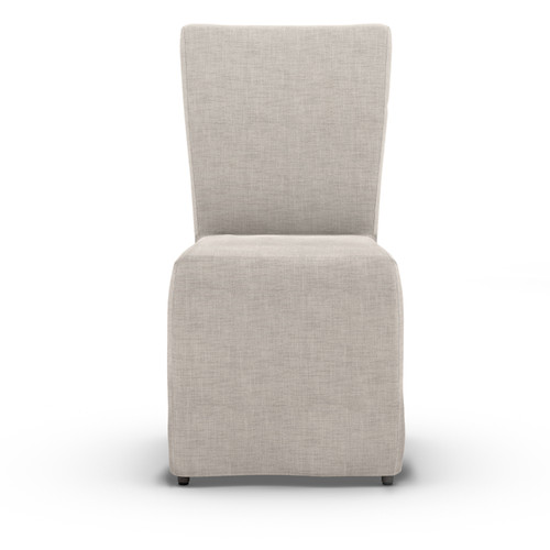 "37"" Four Hands Solano Darcy Outdoor Dining Chair - Stone Grey - 1"