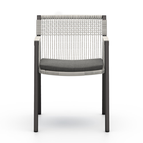 "32"" Four Hands Solano Shuman Outdoor Dining Chair - Charcoal - 1"