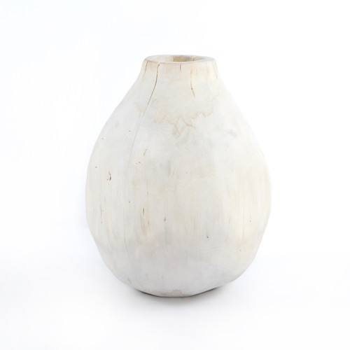 Four Hands Wesson Madero Wood Vase - Ivory - 1