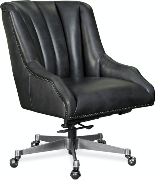 "35"" Hooker Furniture Home Office Buttonwood Executive Swivel Tilt Chair with Metal Base - 1"