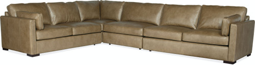 4-Piece Hooker Furniture Living Room Romiah Stationary Sectional - 1
