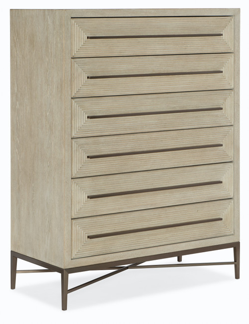 "54"" Hooker Furniture Bedroom Six-Drawer Cascade Chest 1 - 1"
