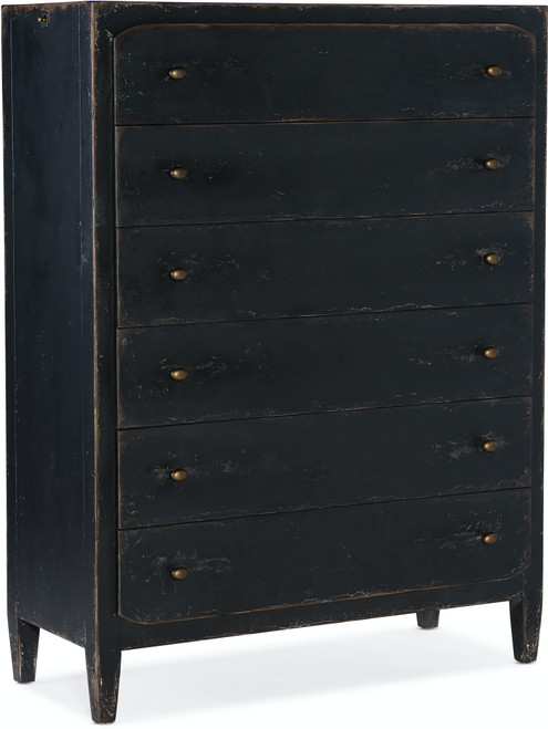 "59"" Hooker Furniture Bedroom Six-Drawer Ciao Bella Chest - Black - 1"