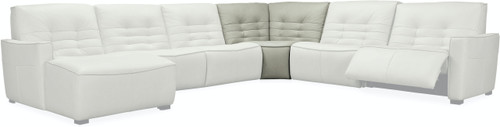 5-Piece Hooker Furniture Living Room Reaux RAF Chaise Sectional with 2 Recliners - 1