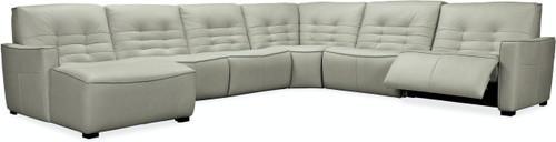 6-Piece Hooker Furniture Living Room Reaux Grandier LAF Chaise Sectional with 2 Recliners - 1