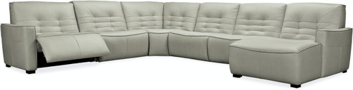 6-Piece Hooker Furniture Living Room Reaux Grandier RAF Chaise Sectional with 2 Recliners - 1