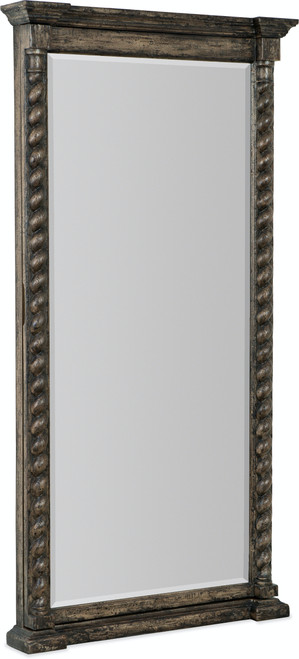 "78"" Hooker Furniture Accents La Grange Vail Floor Mirror with Jewelry Storage - 1"