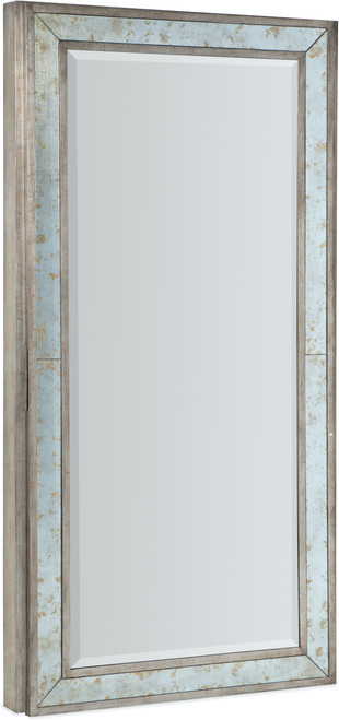 "82"" Hooker Furniture Accents Melange McALister Floor Mirror with Jewelry Storage - 1"