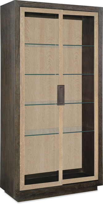 """87"""" Hooker Furniture Dining Room Miramar Point Reyes Voltaire Display Cabinet - 1"""