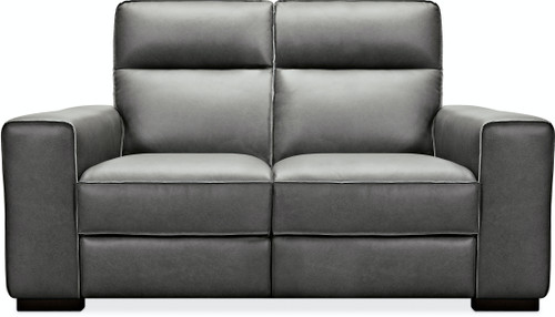 Hooker Furniture Living Room Braeburn Leather Loveseat with Recline and Headrest - 1