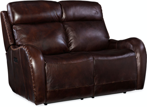 Hooker Furniture Living Room Chambers Power Recliner Loveseat with Headrest - 1