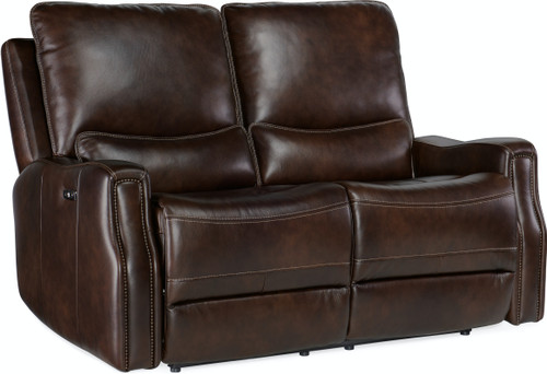Hooker Furniture Living Room Gage Power Recline Loveseat with Headrest - 1