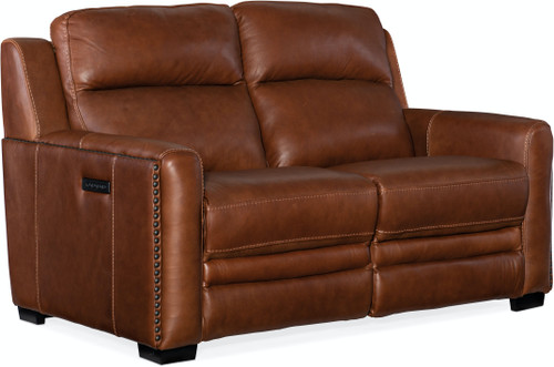 Hooker Furniture Living Room Lincoln Power Recline Loveseat with Headrest - 1
