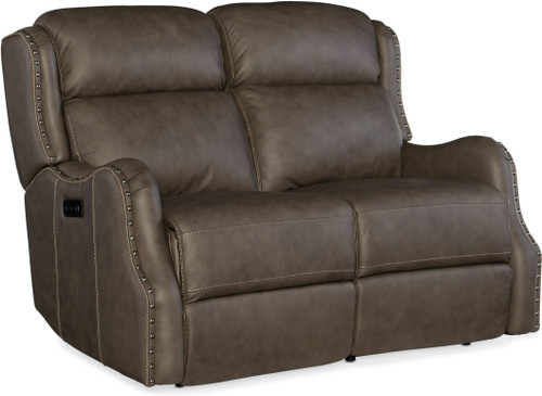 Hooker Furniture Living Room Sawyer Power Recliner Loveseat with Headrest - 1