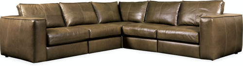 Hooker Furniture Living Room Solace Leather Stationary Sectional - 1