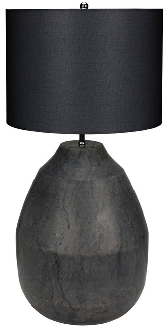 Noir Figaro Lamp with Shade - Black Stone - 1
