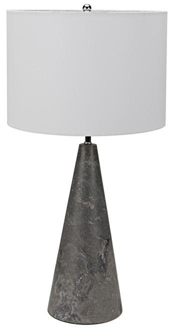 Noir Cone Lamp with Shade - Black Marble - 1