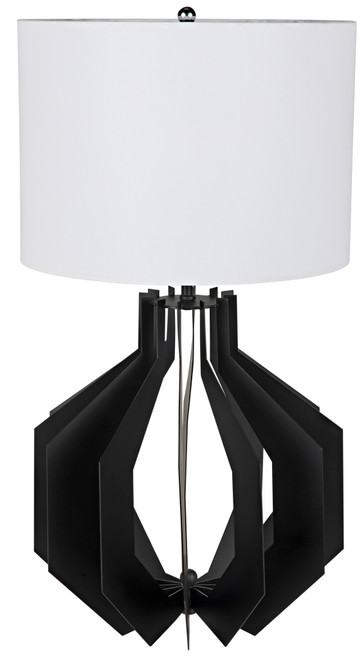 Noir Cona Table Lamp with Shade - 1