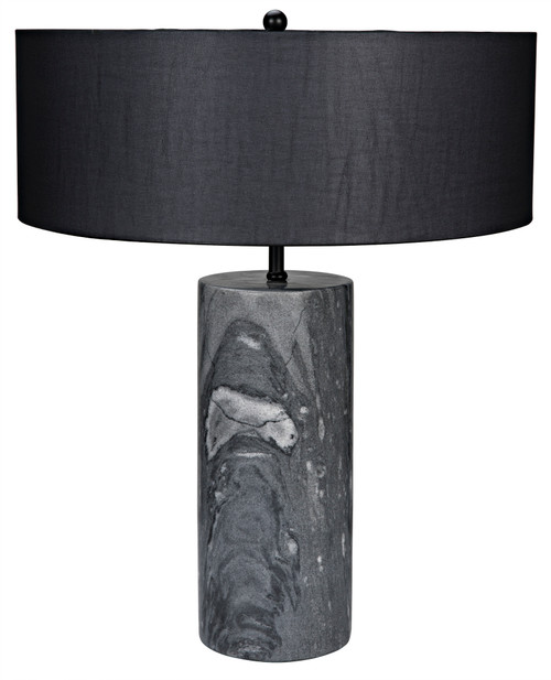 Noir Thomas Table Lamp with Black Shade - 1
