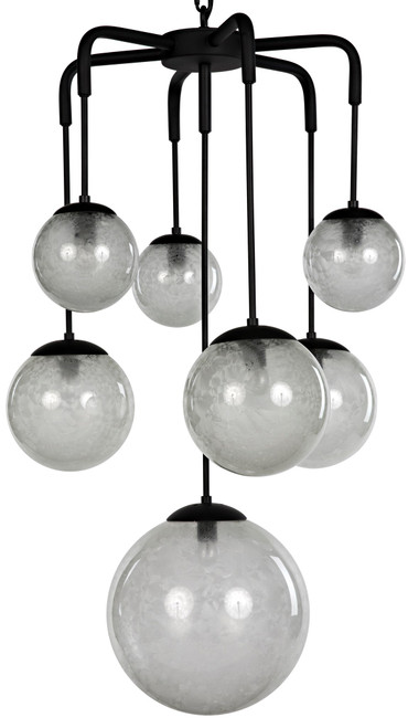 Noir Artemis Chandelier - Metal with Black Finish - 1