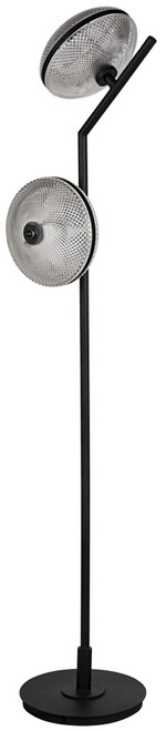 Noir Gibson Floor Lamp - Black Metal - 1