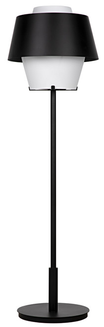 Noir Nolan Floor Lamp - Black Metal - 1