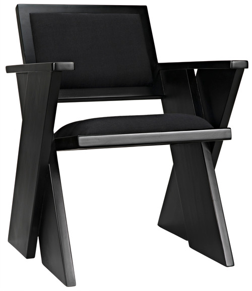 "32"" Noir Tourist Teak Chair - Black - 1"