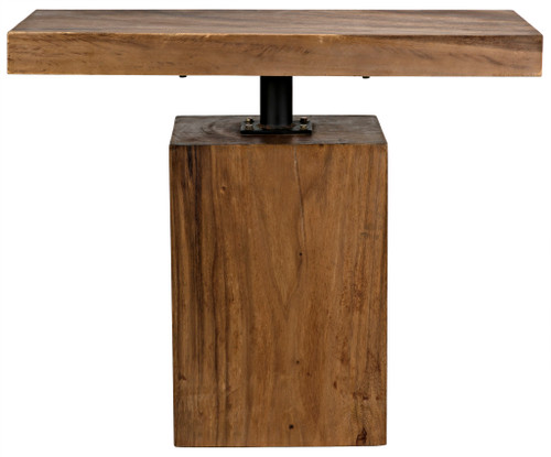 "30"" Noir Titan Munggur Wood Side Table - 1"