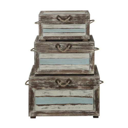"Set of 3 Coast to Coast Accents Nesting Trunk 19"" 2 - 1"