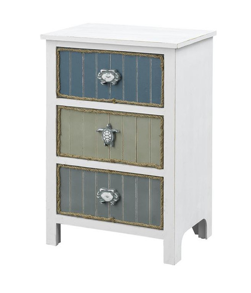 """30"""" Coast to Coast Accents 3 Drawer Chairside Cabinet - 1"""
