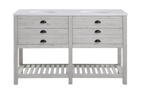 """35"""" Coast to Coast Accents 2 Drawer Double Vanity Sink Chest - 1"""