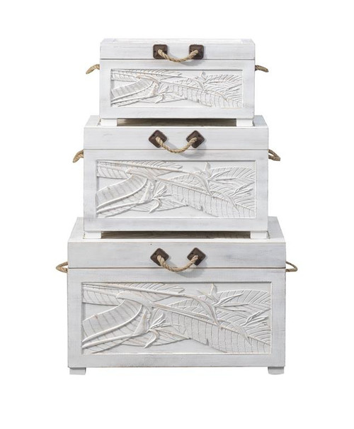 "Set of 3 Coast to Coast Accents Nesting Trunk 19"" 1 - 1"