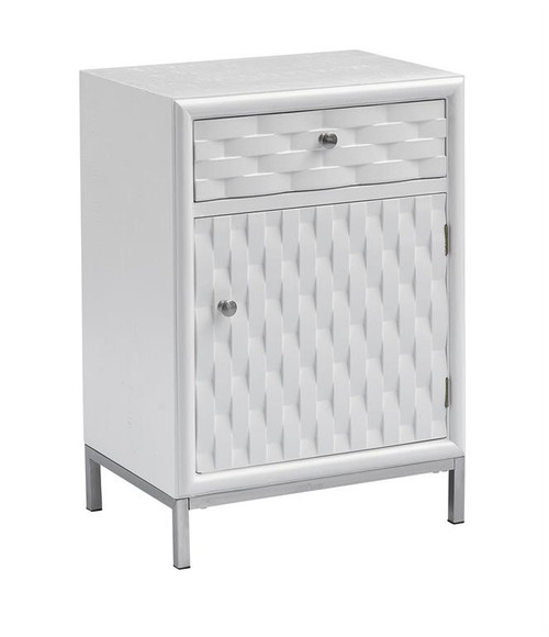 "27"" Coast to Coast Accents 1 Drawer 1 Door Chairside Table - 1"