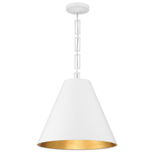 Crystorama Alston 3 Light Matte White and Antique Gold Chandelier - 1