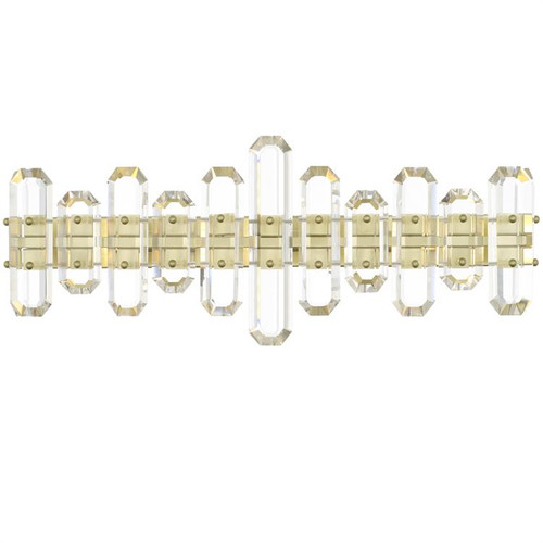 Crystorama Bolton 3 Aged Brass Light Vanity Light - 1