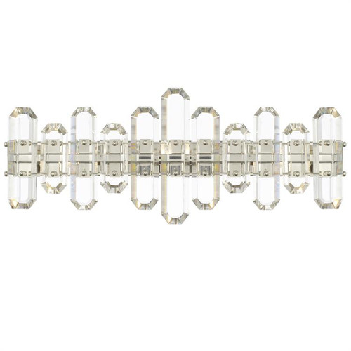 Crystorama Bolton 3 Light Polished Nickel Vanity Light - 1