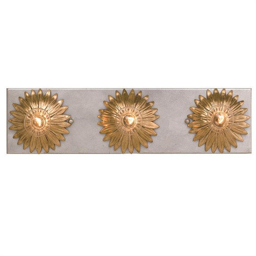 Crystorama Broche 3 Light Antique Gold and Antique Silver Bathroom Vanity Light - 1